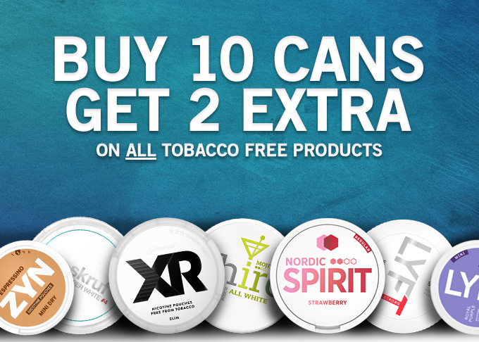 10+2 on nicotine pouches at Snus24