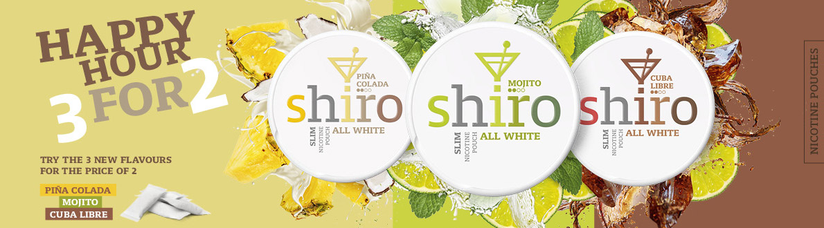 Buy two Shiro and get one extra for free